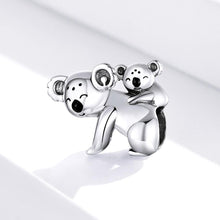 Solid 925 Sterling Silver Baby and Mama Koala Animal Pandora Inspired Charm - Brilliant Co