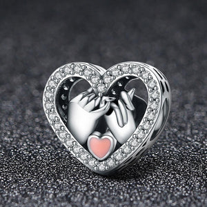 Solid 925 Sterling Silver Pinky Promise Pandora Inspired Charm - Brilliant Co
