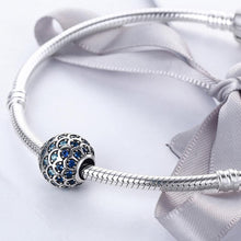 Load image into Gallery viewer, Solid 925 Sterling Silver Blue Mermaid Scale Pandora Inspired Charm - Brilliant Co