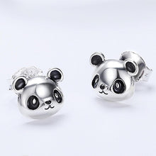 Load image into Gallery viewer, Solid 925 Sterling Silver Panda Face Earrings - Brilliant Co