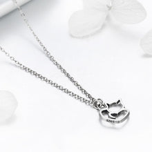 Solid 925 Sterling Silver Cat Love Necklace - Brilliant Co