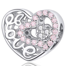 Solid 925 Sterling Silver Pinky Love CZ Charm - Brilliant Co