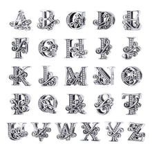 Solid 925 Sterling Silver Vintage Inspired Antique Alphabet Charm F - Brilliant Co