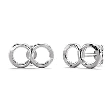 Solid 925 Sterling Silver Infinity Stud Earrings - Brilliant Co