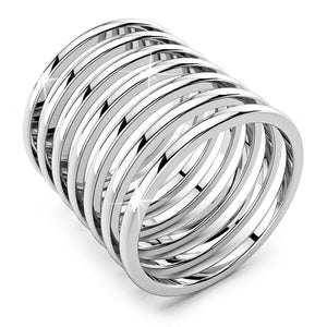 Solid 925 Sterling Silver 7 in 1 Stacked Rings - Brilliant Co