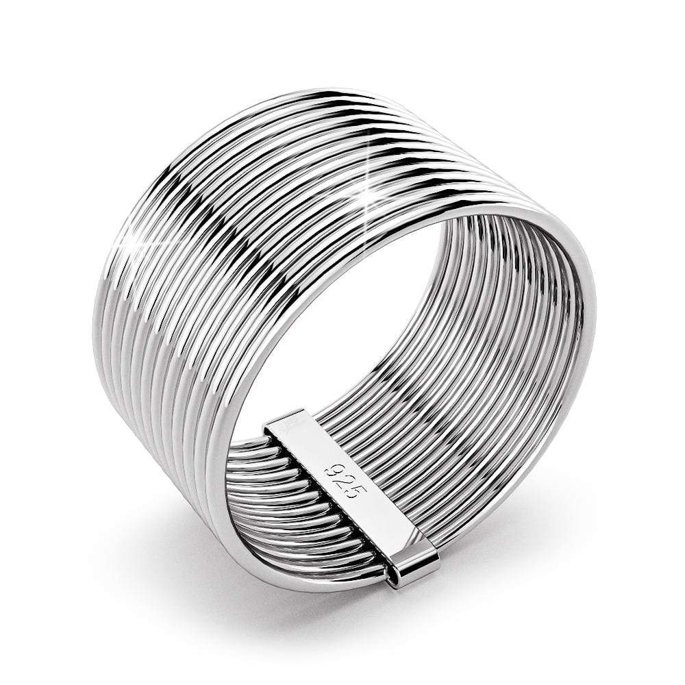 Solid 925 Sterling Silver Multi-band Wire Ring - Brilliant Co