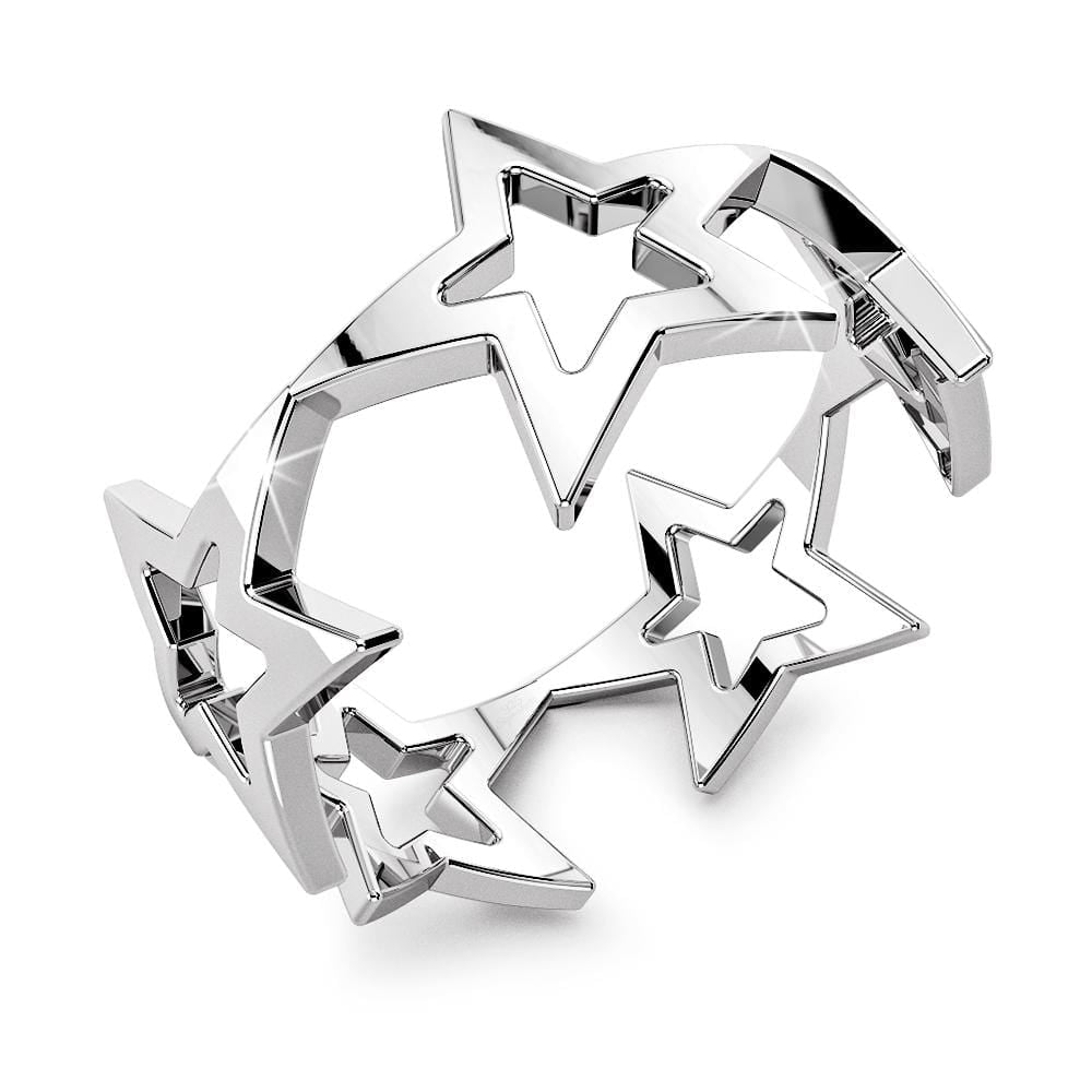 Solid 925 Sterling Silver Interconnected Star Ring - Brilliant Co