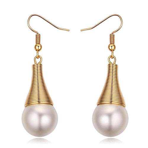 Cleopatra Earring Ft Pearl From Swarovski | Gold