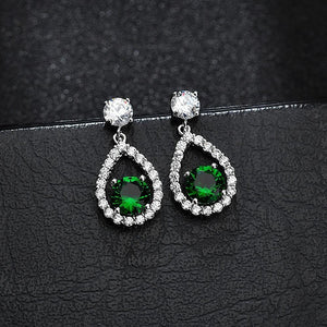 Fenella Bloom Earrings in Emerald - Brilliant Co