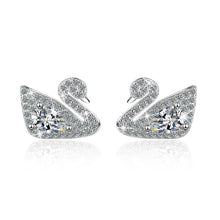 Load image into Gallery viewer, Classic White Swan Dazzle Earrings - Brilliant Co