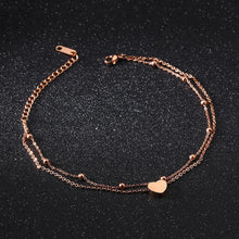 One Heart Double Strand Anklet - Brilliant Co