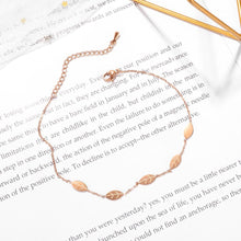 Falling Leaves Chain Anklet in Rose Gold Layered Steel Jewellery - Brilliant Co