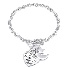 Love You To The Moon And Back Toggle Belcher Chain Bracelet - Brilliant Co