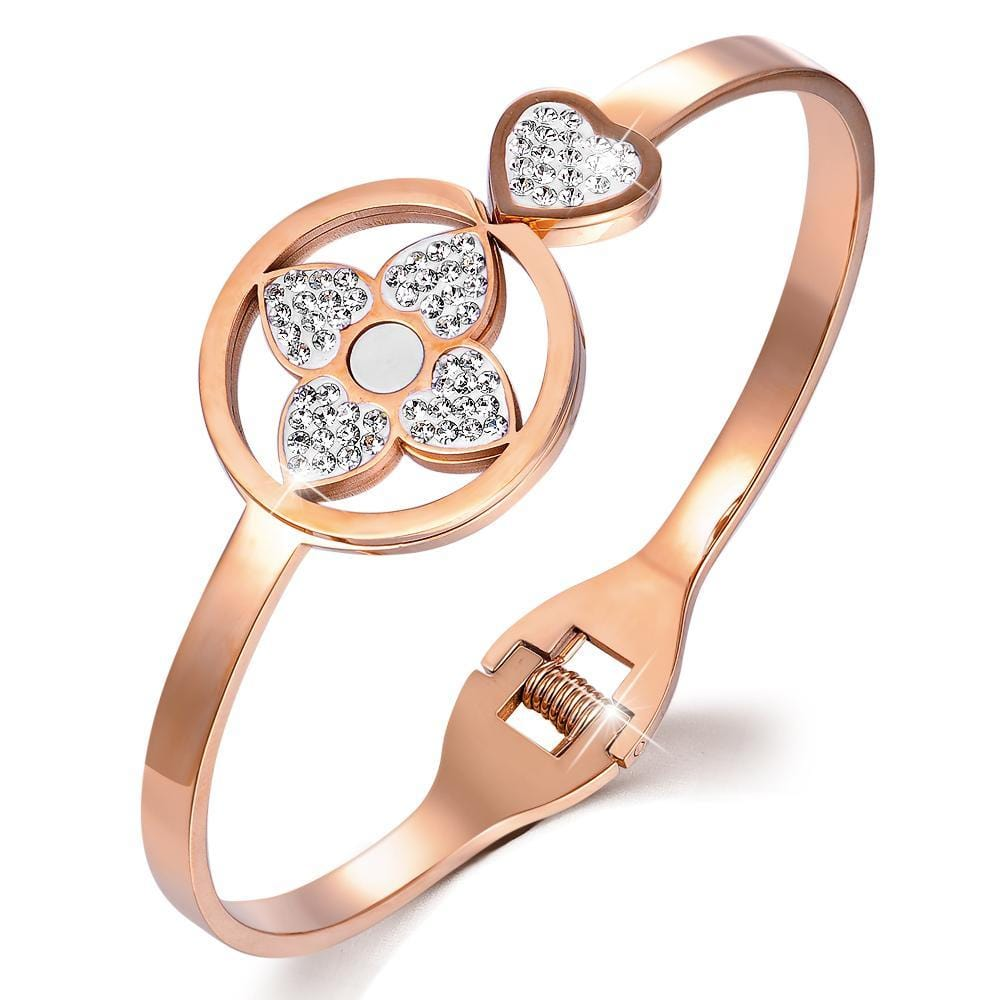 Lucky Love Hinged Bangle - Brilliant Co
