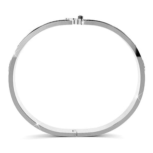 Elaine White Gold Bangle