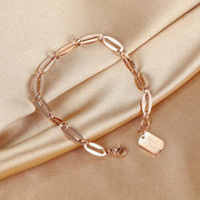 Load image into Gallery viewer, Good Luck Chain Bracelet in Rose Gold Layered Steel Jewellery - Brilliant Co