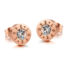 Love Bezel Studs Rose Gold - Brilliant Co