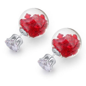 Stardust Bubble Earrings Red - Brilliant Co