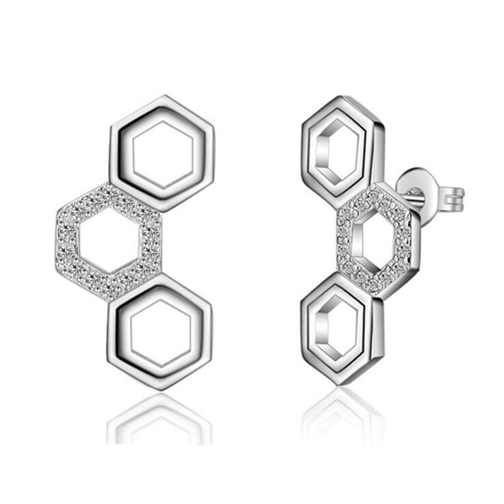 Honeycomb Earrings - Brilliant Co