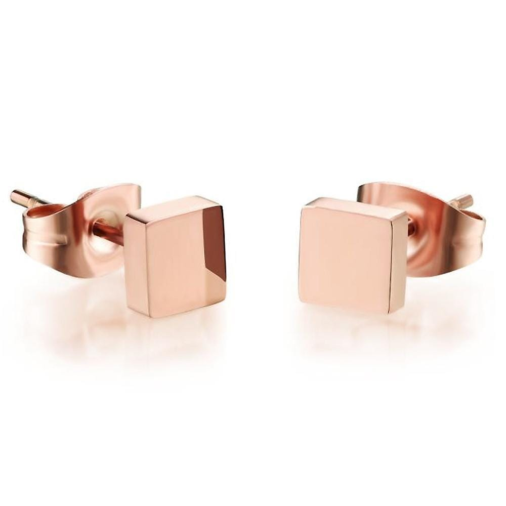 Solid Shapes Stud Earrings Square Tile - Brilliant Co