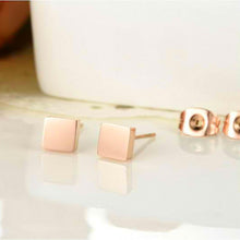Load image into Gallery viewer, Solid Shapes Stud Earrings Square Tile - Brilliant Co