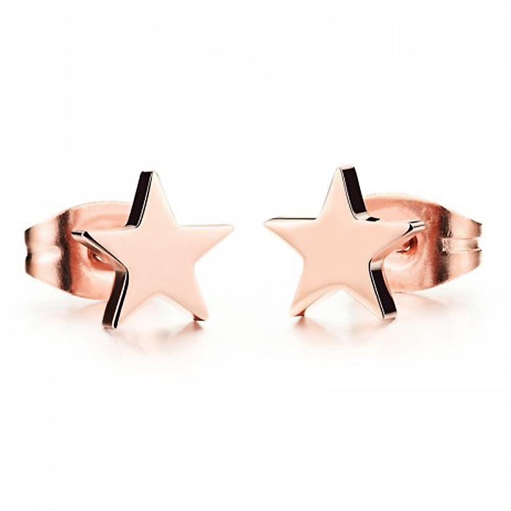 Solid Shapes Stud Earrings Little Star - Brilliant Co