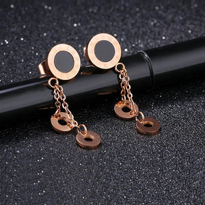 Fame Dangle Earrings Circle Charms - Brilliant Co