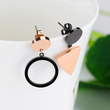 Modern Geometric Style Drop Earrings Triangle & Circle - Brilliant Co