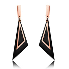 Modern Geometric Style Dangle Earrings Duo Scalene - Brilliant Co