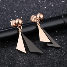Modern Geometric Style Dangle Earrings Duo Triangle - Brilliant Co