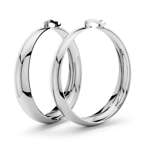 Annie Graduated Hoop Earrings 50mm