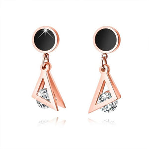 Geometric Triangle Drop Earrings