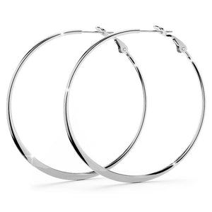 Semi Flattened Hoop Earrings 50mm