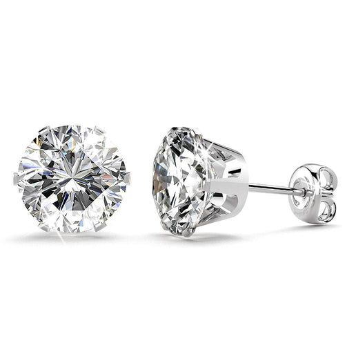 Nabeeyla Clear Stud Earrings|10mm
