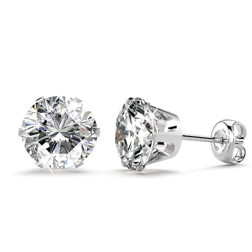 Nabeeyla Clear Stud Earrings|7mm