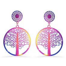 Laser Etched Earrings In Rainbow - Brilliant Co
