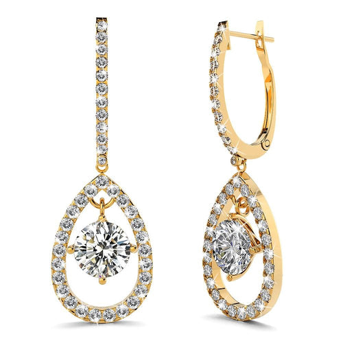 Grace Sparkling Zirconia Teardrop Earrings