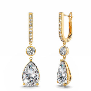 Nobel Sparkling Zirconia Latch Back Earrings