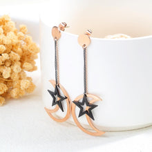 Shimmering Moon Star Drop Earrings - Brilliant Co