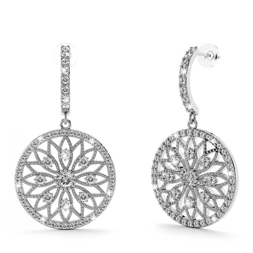 Flower of Life Intricate Dangle Earrings