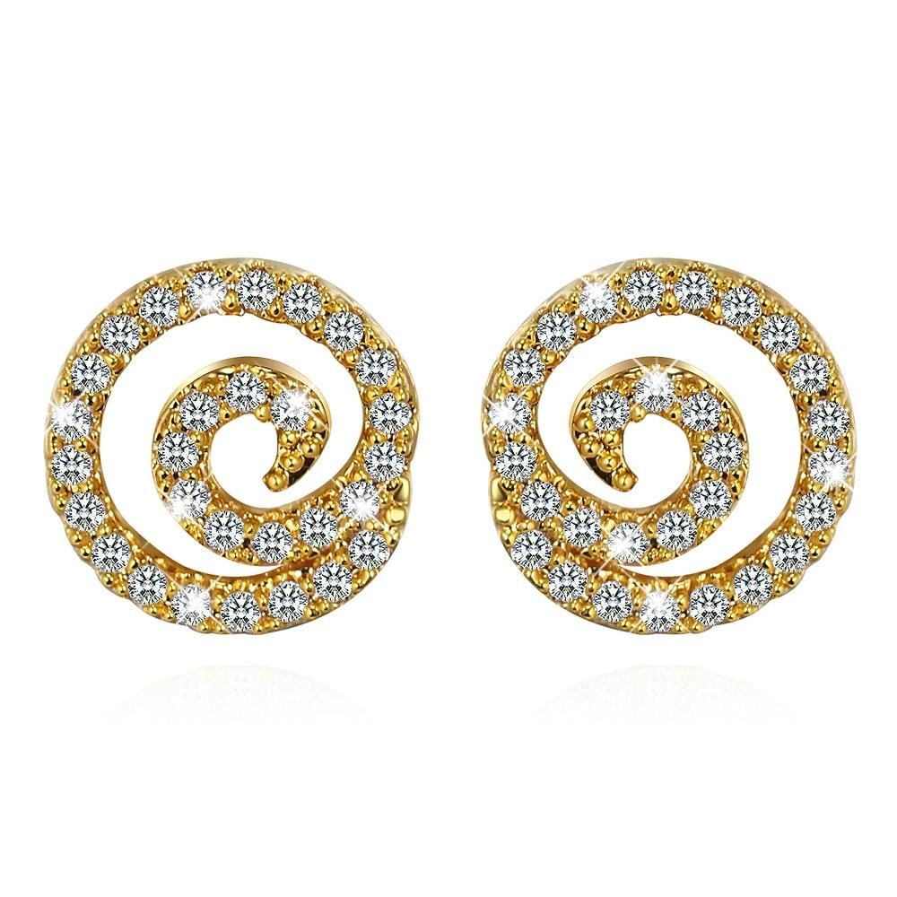 Spiral Stud Earrings - Brilliant Co