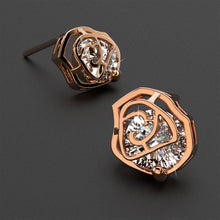 Pretty Rose Stud Earrings in Rose Gold - Brilliant Co