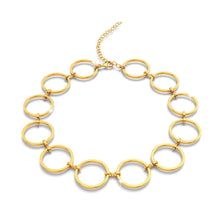 Open Circle Choker Necklace