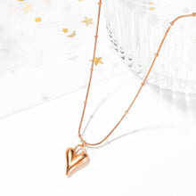 Lovey Peach Dual Chain Golden Pendant Necklace in Rose Gold Layered Steel Jewellery - Brilliant Co