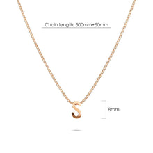 Load image into Gallery viewer, Initials Brick Alphabet Letter Necklace Rose Gold Layered Steel Jewellery - S - Brilliant Co