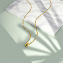 Load image into Gallery viewer, Initials Brick Alphabet Letter Necklace Gold Layered Steel Jewellery  - Q - Brilliant Co