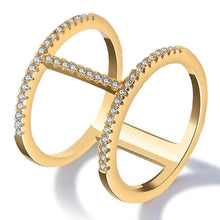 Gorgeous Monica 18K Gold Plated Fashion Ring