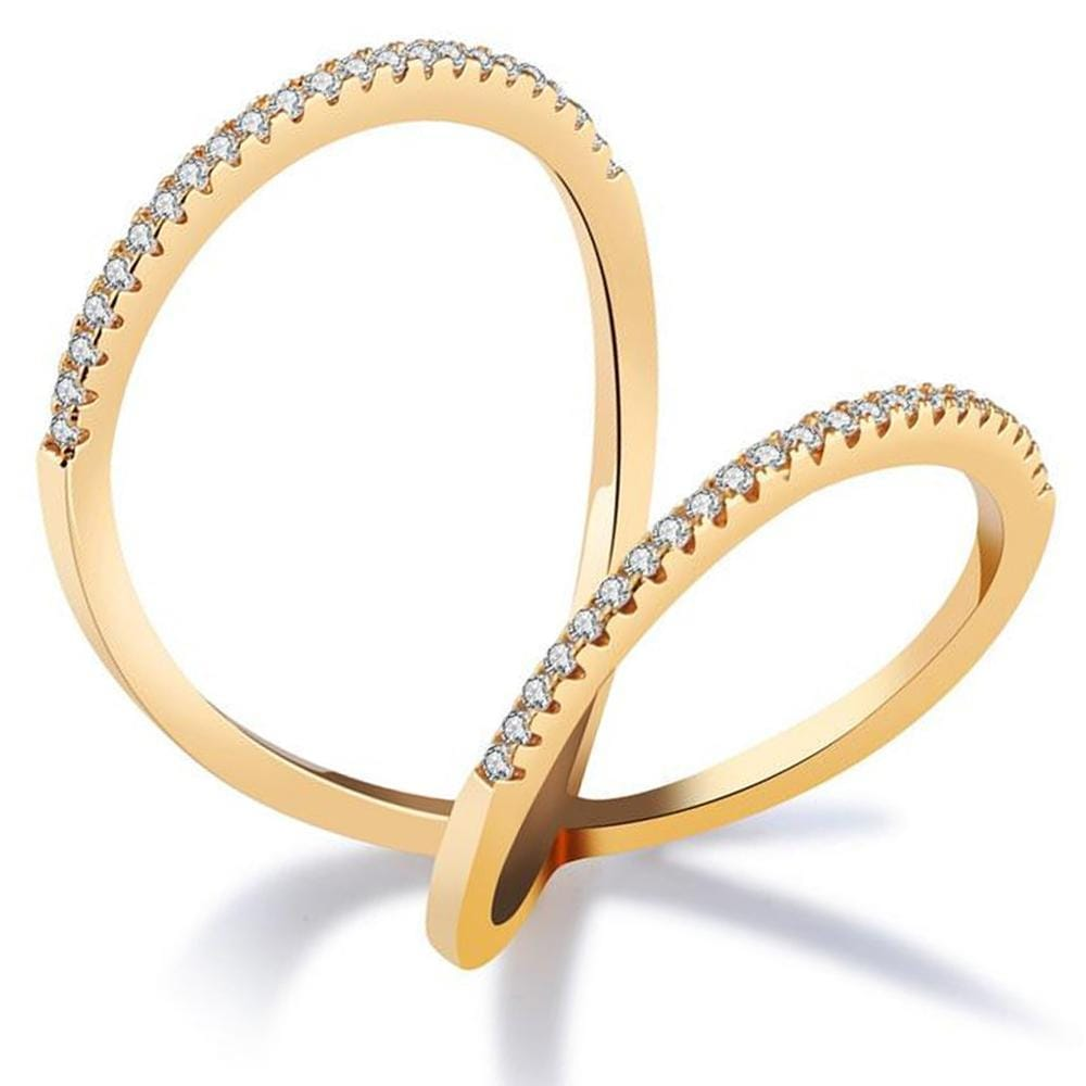 Sexy Aloriah 18K Gold Plated Fashion Ring - Brilliant Co