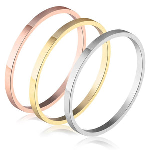 3 Pc Tri-Color Stackable Ring Set