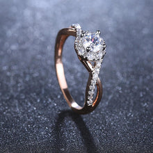 Load image into Gallery viewer, Created Diamonds Classic Setting Rose Gold Layered Band Ring - Brilliant Co